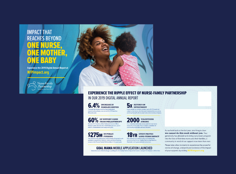 NFP Annual Report 2019 Postcard