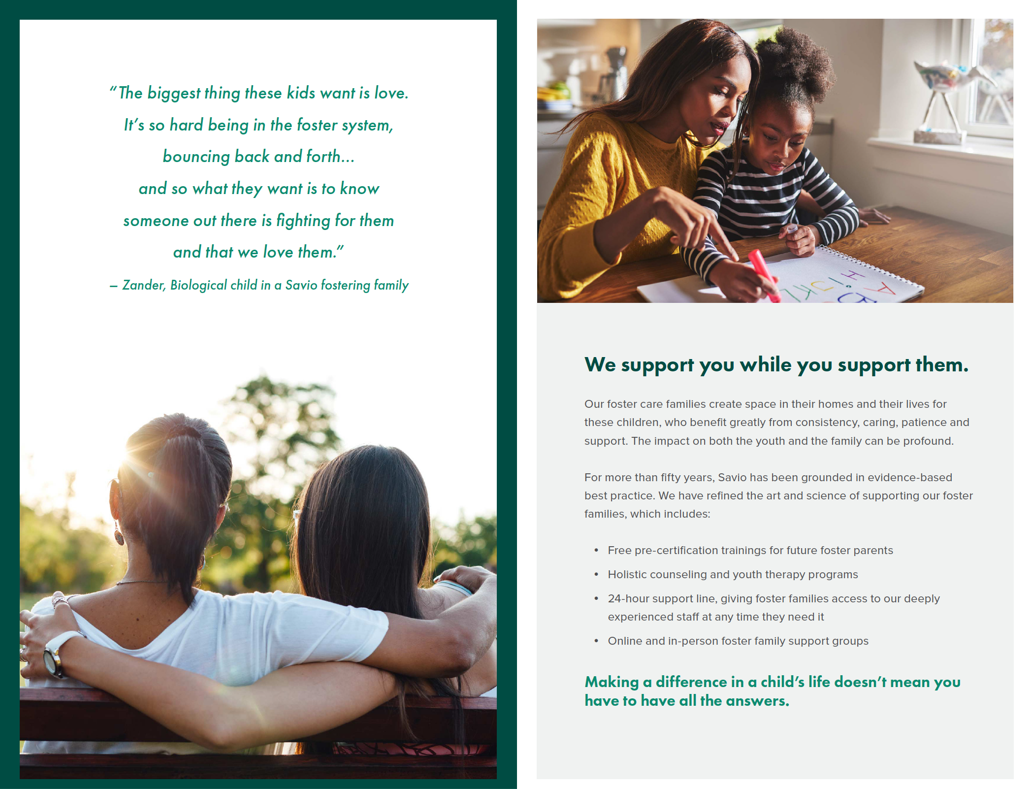 Savio House brochure open page 2